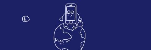 iPhone5sがSIMフリーならワールドワイドに活躍!北極の上に立っているのは、「北が上」という教育にどっぷりと使ってしまった結果、ここに立つと上から見下ろした感がでるかな?なんて思考に固まってしまっている証拠かも。