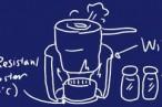100円ショップにて、風防、燃料用ボトル、耐熱コースターを調達 – 空き缶でアルコールストーブ(コンロ)自作。