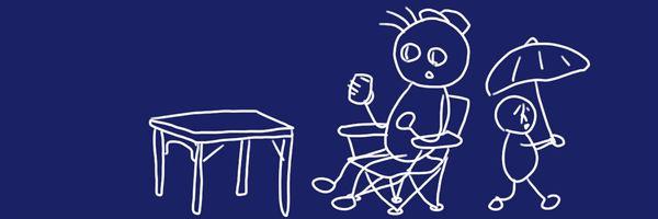 アウトドアでの熱中症対策に、折り畳み式椅子と日傘を買ってみました。コスパ、いい感じです。