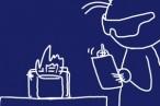アルコールストーブ用超シンプルゴトクの追加実験。フレームが赤くなるまで熱したらどうなるかな?