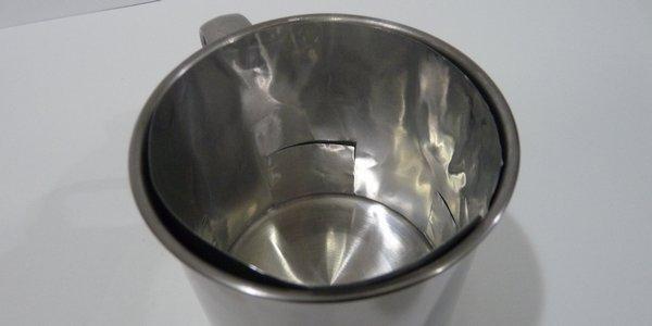 ダイソーマグカップ用ウインドシールド
