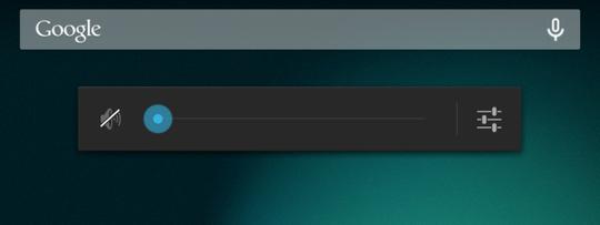 Nexus7音量設定