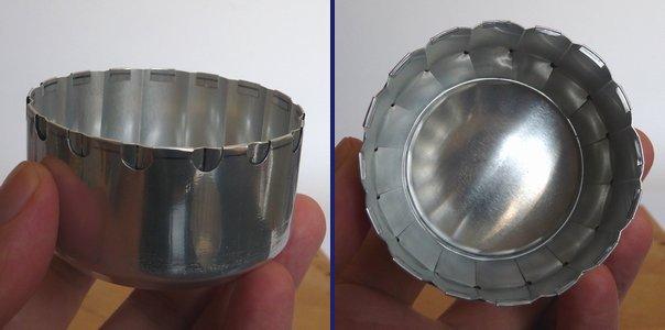 グルーブストーブ・プリーツスカート穴有無燃焼実験