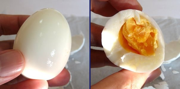 ハイキング料理・ゆで卵