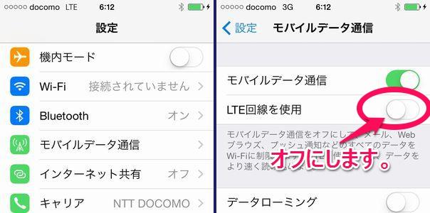 docomo iPhone 5s MVNO LTE通信