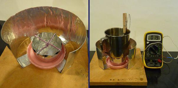 低火力グルーブストーブで火力調整実験