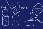 キャンプでお米を持ち運んで軽量するのによさげな、ペットボトル用一体化計量カップ&漏斗を100均にて購入。これは便利そう。