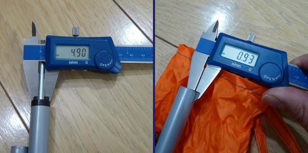 SiSO-LAB DOPPELGANGER アウトドア スチール製テント・タープ ポール XP-01(165cm×径15mm)2本セット