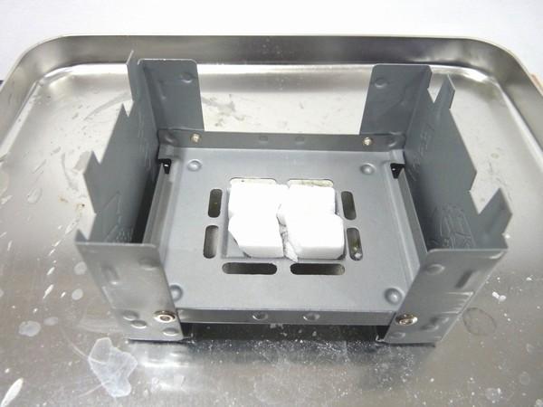 SiSO-LAB ESBITポケットストーブ、タブレットで初お湯沸し