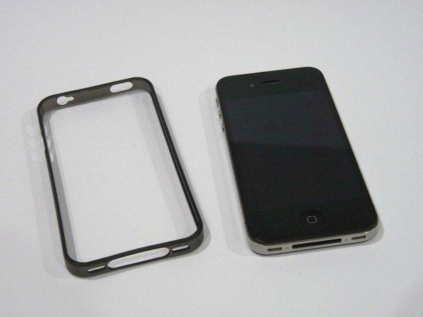 SiSO-LAB☆baw&g iPhone 4S用 ベーシックバンパー&フイルムセット 墨