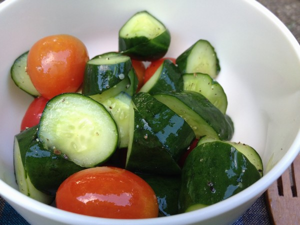 SiSO-LAB☆山御飯、和風きのこパスタと浅漬け風きゅうり&トマトサラダ