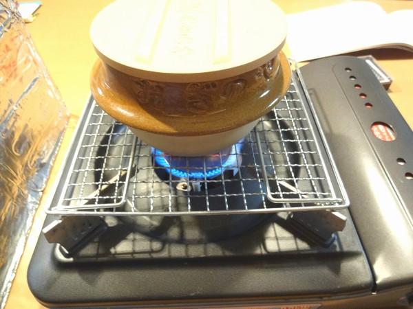 SiSO-LAB☆おぎのや峠の釜めしの土釜で炊飯