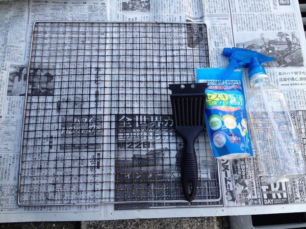 SiSO-LAB☆バーベキューの焼き網掃除にはセスキ炭酸ソーダが便利。