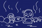 かわいいお猿さんが温泉に!干支みぞれ鍋(雪見鍋)で迎えるお正月。のレシピとか。
