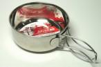 百均浪漫◆これもいいかも!フォールディング(折りたたみ式)ハンドル付きステンレス食器・小@100均 ダイソー