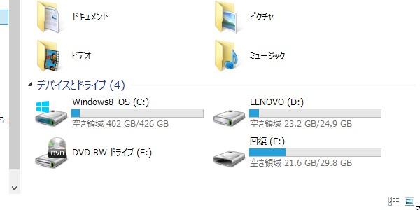 SiSO-LAB☆標準機能でWindows 8/8.1パソコンをリカバリをバックアップ