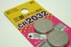 百均浪漫◆三菱リチウム電池CR2032 3V 2個入り @100均 ダイソー