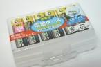 百均浪漫◆単3形電池12本を2段でコンパクト収納、携帯用電池ケース @100均 レモン