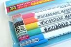 百均浪漫◆ポップな5色入り線幅約0.7mm細めのホワイトボードーマーカー @100均 ダイソー
