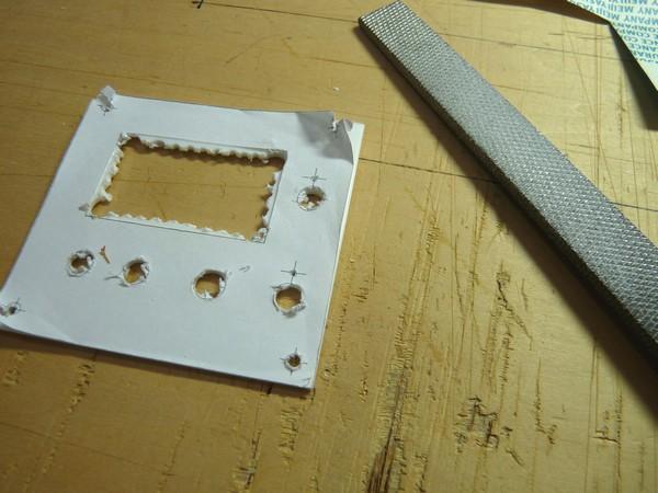 SiSO-LAB☆ミニ四駆実験用電源の製作・四角い穴のあけ方