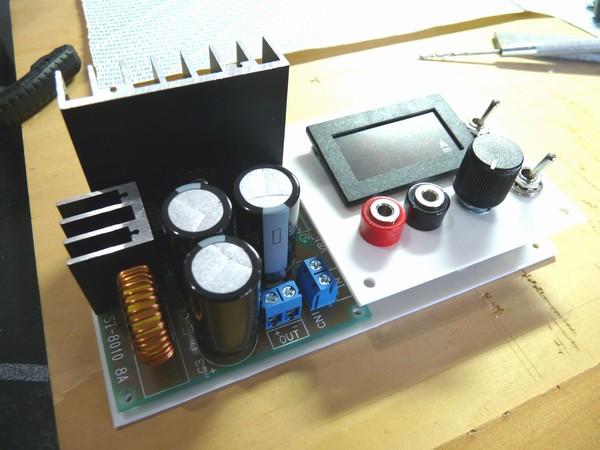SiSO-LAB☆ミニ四駆実験用電源の製作・パネル仮り組み