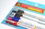 百均浪漫◆事務的な色(黒、青、赤)の5本入り線幅約0.7mm細めのホワイトボードーマーカー @100均 ダイソー