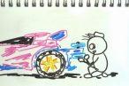 TOYz BAR◆どノマールで楽しむミニ四駆、MAシャーシのリヤープラローラーの取り付け方変えて1%タイム向上?