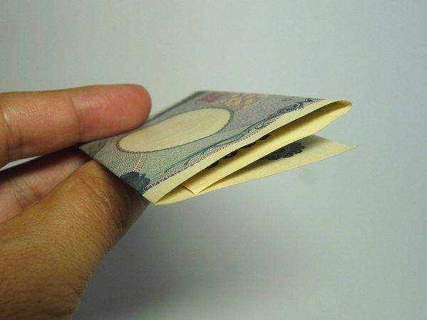 SiSO-LAB☆千円札や一万円札を簡単に3つ折りする方法。