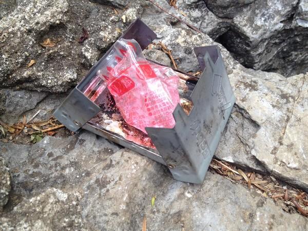 SiSO-LAB☆缶詰を湯せんで温める方法・ESBITポケットストーブと100均パック燃料