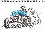 TOYz BAR◆ミニ四駆のローラーセッティング考察 、ローラー径は大きいほうが有利?について考えてみる。
