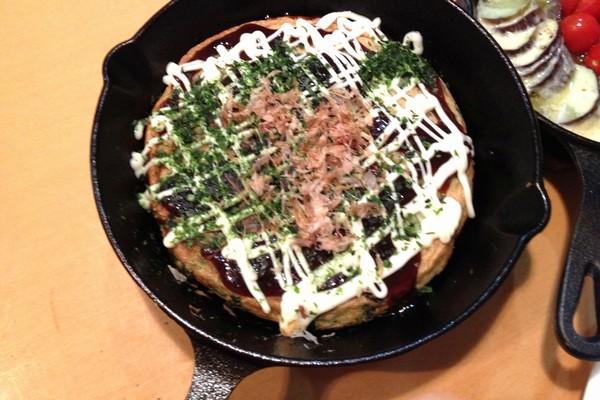 SiSO-LAB☆ニトスキ!空芯菜のふっくらお好み焼き