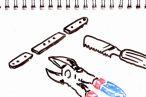 TOYz BAR◆ミニ四駆のFRPステーやプレートを切る方法。カッターのこIIとニッパーを比較。