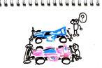 TOYz BAR◆ミニ四駆のフロントローラー回り検討中。ロングノーズなセッティングを目指して迷走中。