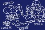 ニトスキ!外側カリカリ中はホクホク、我が家的ジャガイモのガレット、スキレット19cmなら4個ぐらいがちょうどいいかな。