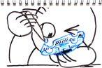 TOYz BAR◆プラスチック玩具が割れた時の修理方法。瞬間接着剤で接着して紙で補強するとなかなか丈夫でよろし。