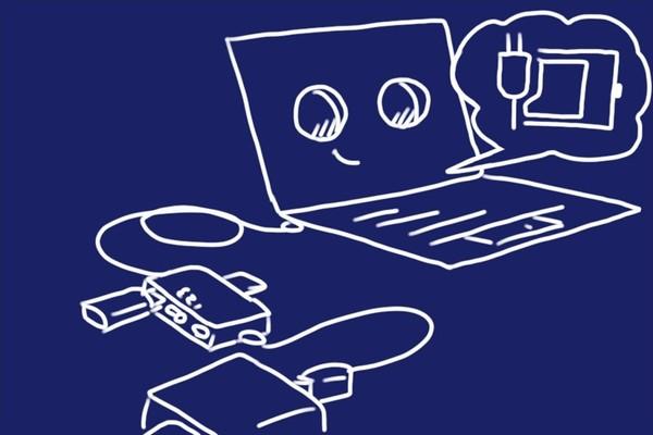 RUH-OTGU2CR+CならYOGA BOOKを充電しながらUSBが使えてSDカード読み書きもできるぞ!