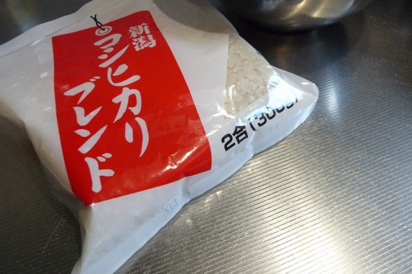 SiSO-LAB☆ニトスキ!チャーハン風炊き込みご飯・100均の新潟コシヒカリブレンド米
