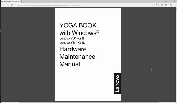 SiSO-LAB☆YOGA BOOK with Windows・ハードウェア保守説明書