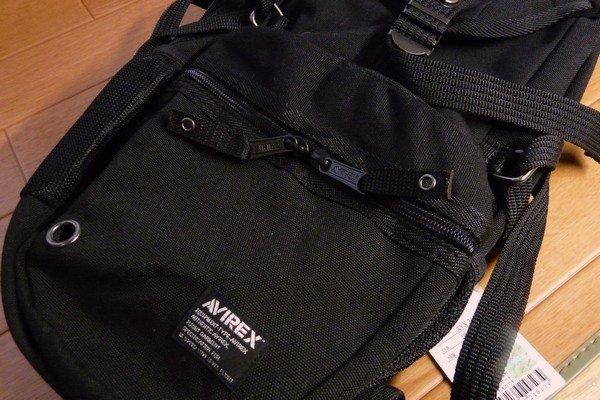 SiSO-LAB☆AVIREX イーグル ボディバッグAVX305・外側下部のポケットサイズ。