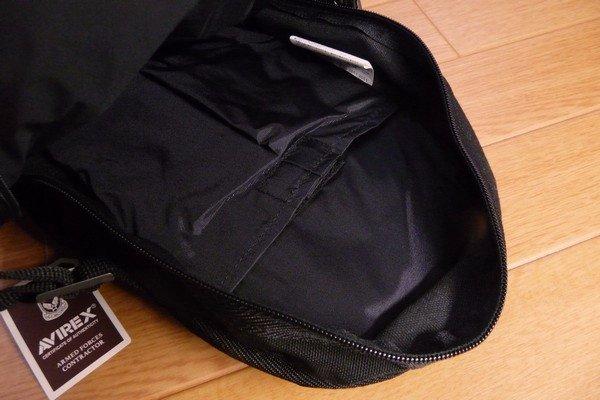 SiSO-LAB☆AVIREX イーグル ボディバッグAVX305・内側のポケットサイズ。
