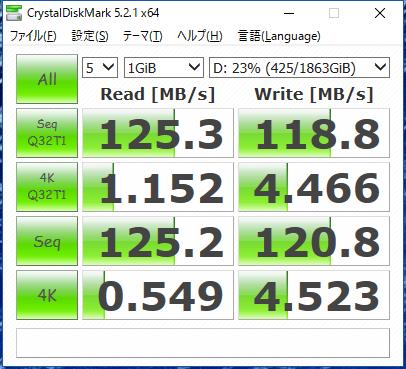 SiSO-LAB☆SEAGATEのBarraCuda 2.5インチST2000LM015・CrystalDiskMarkで速度測定