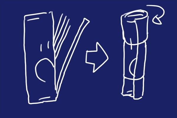 SiSO-LAB☆スパゲティ袋を盾に開けると閉じやすい。