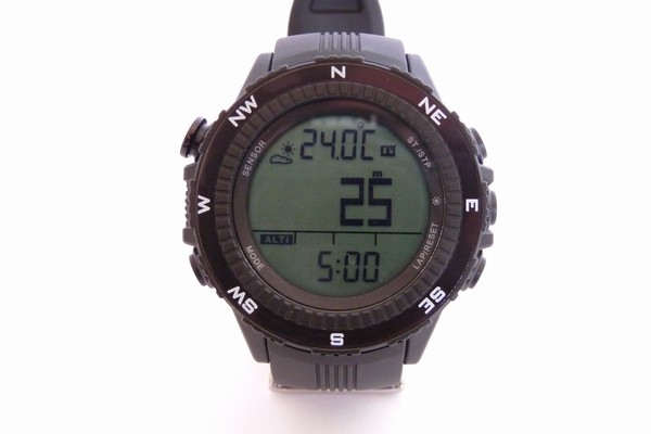 SiSO-LAB☆ラドウェザーLAD004 NKNO。高度計の履歴表示(数値)。
