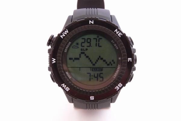 SiSO-LAB☆ラドウェザーLAD004 NKNO。気圧計の履歴表示(グラフ)。
