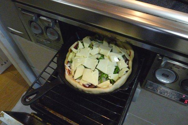 SiSO-LAB☆ニトスキ!魚焼き今度路でピザ。魚焼きコンロで。
