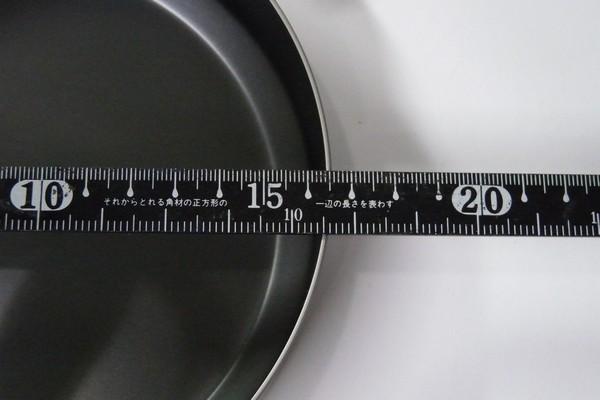 SiSO-LAB☆ユニフレーム 山フライパン17cmとリッドSUS。フライパン内径は16.4cm。