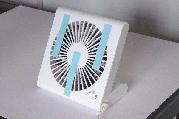 SiSO-LAB☆コンパクトスリムファン SSF-106U。風力、回転数測定。