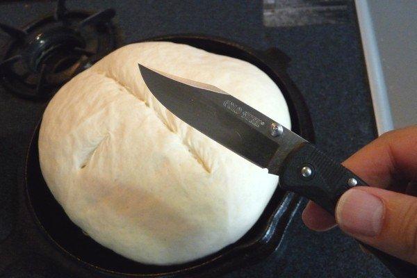 SiSO-LAB☆コンボクッカーでパン・ド・カンパーニュ焼いてチーズフォンデュ!COLD STEELでクープ。