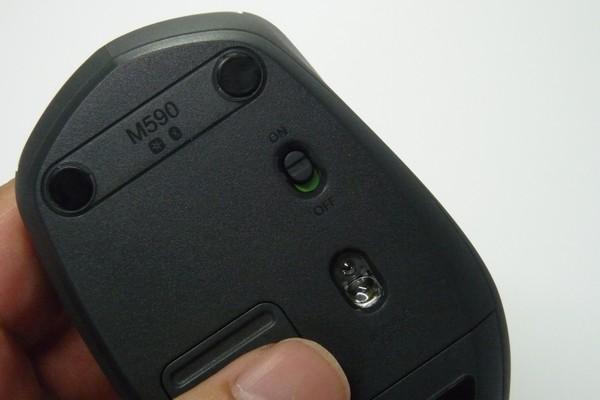 SiSO-LAB☆Logigool 静音マウスM590 Bluetooth 7ボタン。電源スイッチ。
