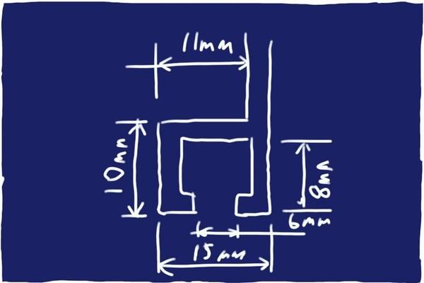 SiSO-LAB☆日よけ対策。100均グッズ追加工作でスダレハンガーをサッシにしっかり固定。ちょっと複雑なアルミサッシ断面。